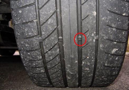 Lốp xe có dấu hiện mòn và mỏng